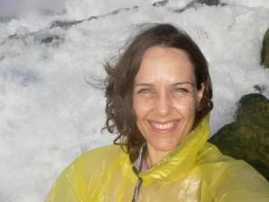 Cathy at Niagara Falls